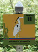 installed, wetlands of watsonville trail markers