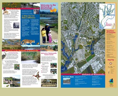 wetlands of watsonville trail guide brochure, inside