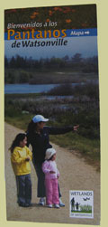 wetlands of watsonville trail guide brochure, front