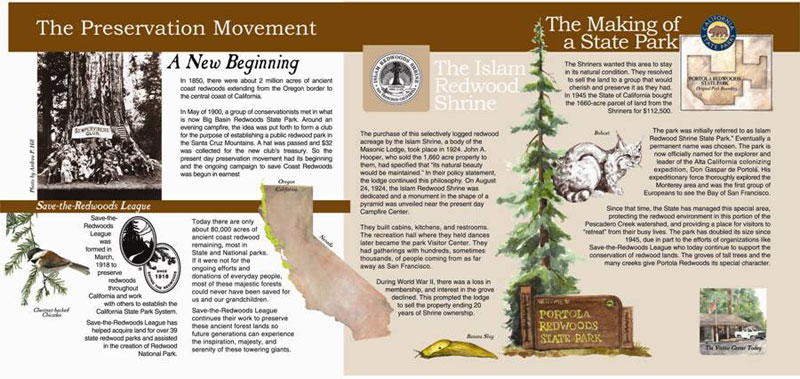 History of Portola Redwoods State Park (Visitor Center), The Preservation Movement Panel