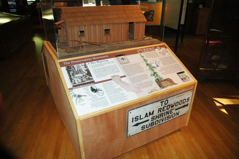 History of Portola Redwoods State Park (Visitor Center), Installed The Preservation Movement Panel