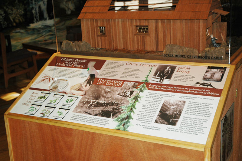 History of Portola Redwoods State Park (Visitor Center), Installed Ohlone People and the Redwood Forest Panel