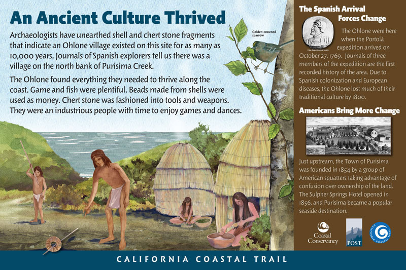 Cowell-Purisima Trail, An Ancient Culture Thrived Panel