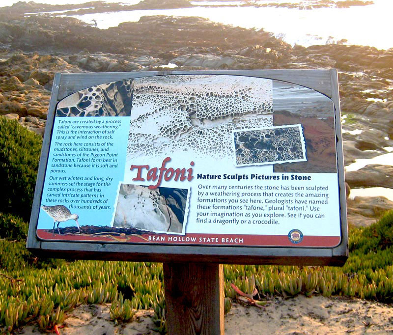 Bean Hollow State Beach, Installed Tafoni Panel