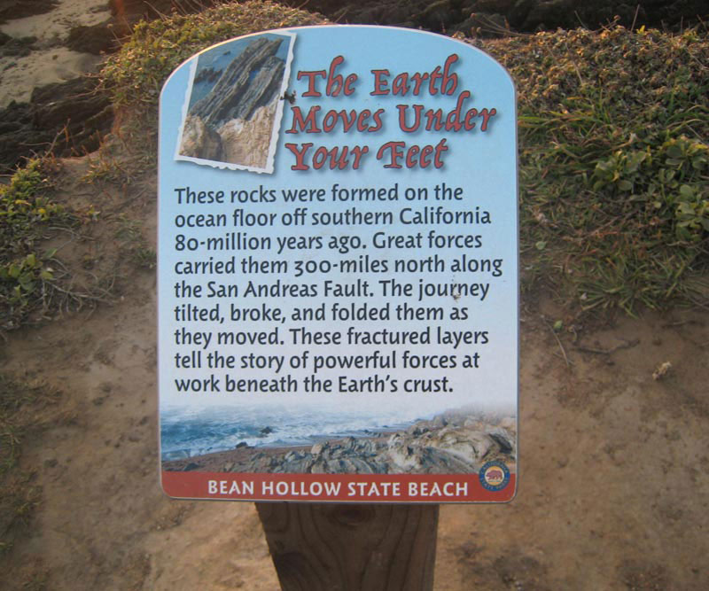 Bean Hollow State Beach, Installed The Earth Moves Under Your Feet Panel
