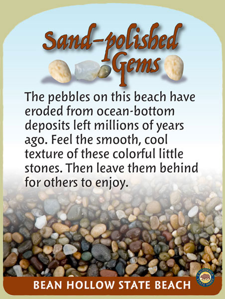 Bean Hollow State Beach, Sand-polished Gems Panel