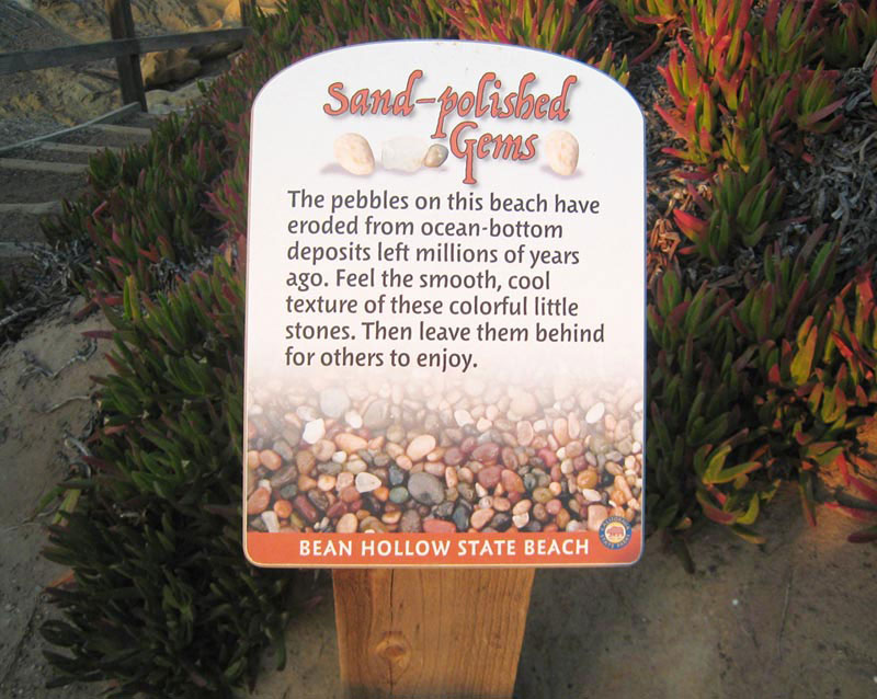 Bean Hollow State Beach, Installed Sand-polished Gems Panel