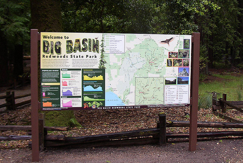 Big Basin, Installed Welcome Panel