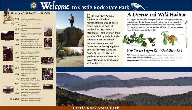 Castle Rock State Park Welcome Panel