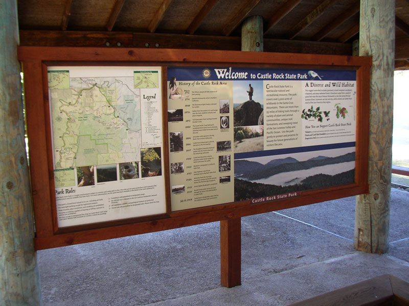Castle Rock State Park, Installed Welcome Panel